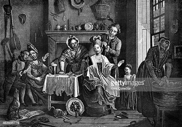 'HighLife Below Stairs' 1772 Illustration from Social Caricature in the Eighteenth Century With over two hundred illustrations by George Paston...