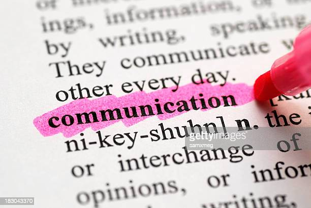 highlight of communication in the dictionary - highlights stock pictures, royalty-free photos & images