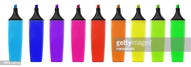 highlighter marker pens - felt tip pen stock pictures, royalty-free photos & images