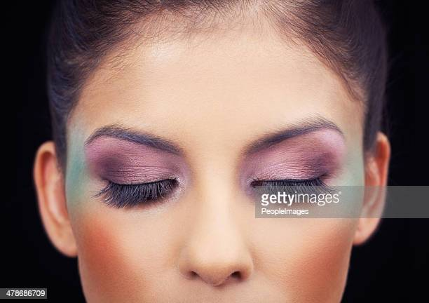 highlighting her beautiful eyes - eye make up stock photos and pictures