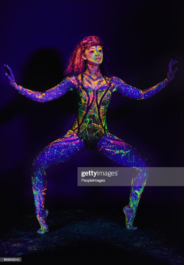 Highlighting her movement : Stock Photo