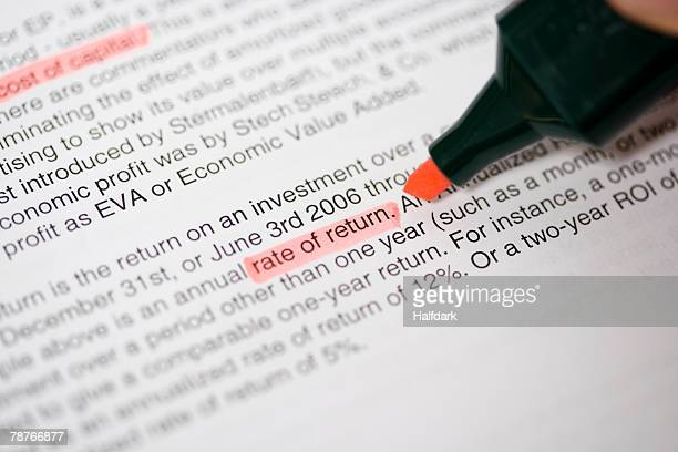 highlighting words in a text - highlights stock pictures, royalty-free photos & images