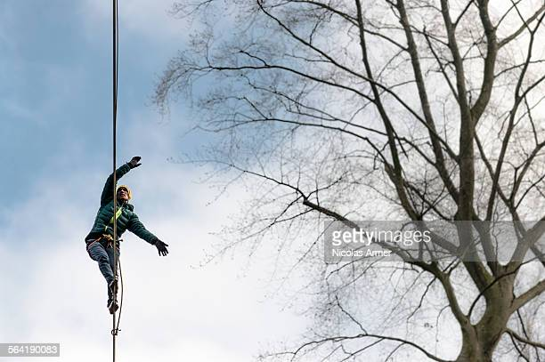 Highlining in southern Bavaria