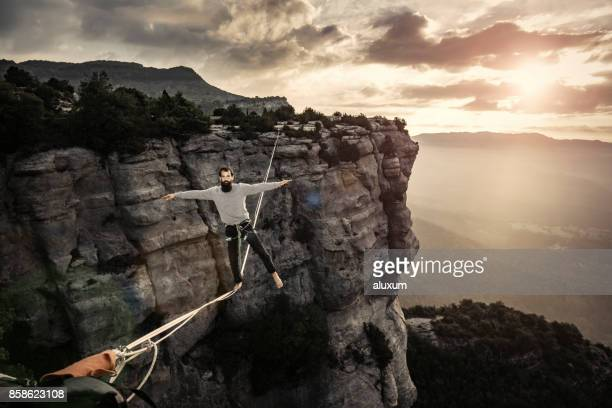 Highlining in Tavertet Catalonia