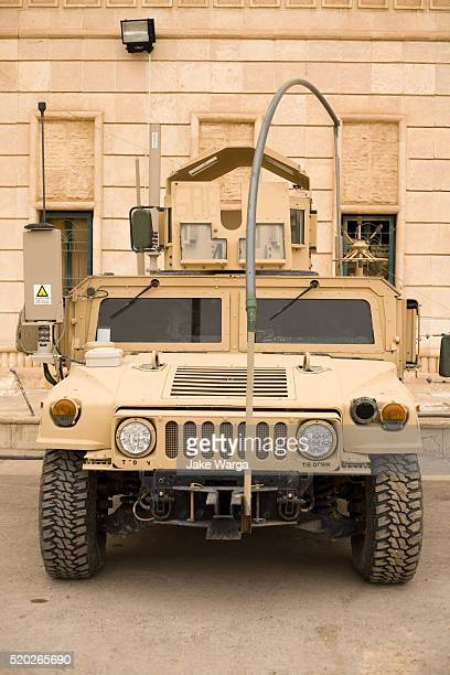 HMMWV High-Mobility Multipurpose Wheeled Vehicle, parked behind Mahmoon Palace, originally built to celebrate Saddam HusseinÕs birthdays, Tikrit