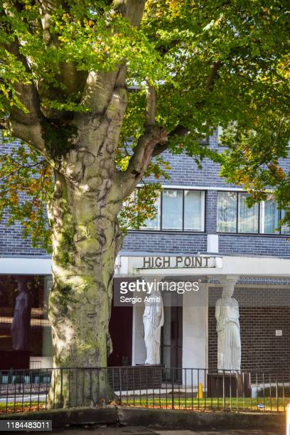 highpoint building in highgate, london - highgate stock pictures, royalty-free photos & images