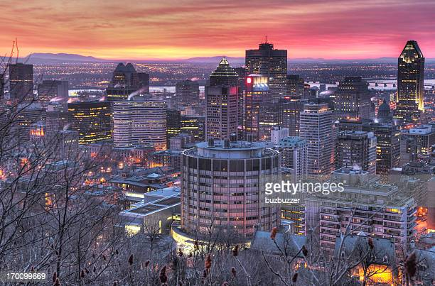 HighR Picture of the Sunrise on Montreal