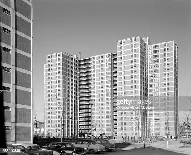 Highrise apartment buildings at CabriniGreen Homes Chicago Illinois March 24 1958