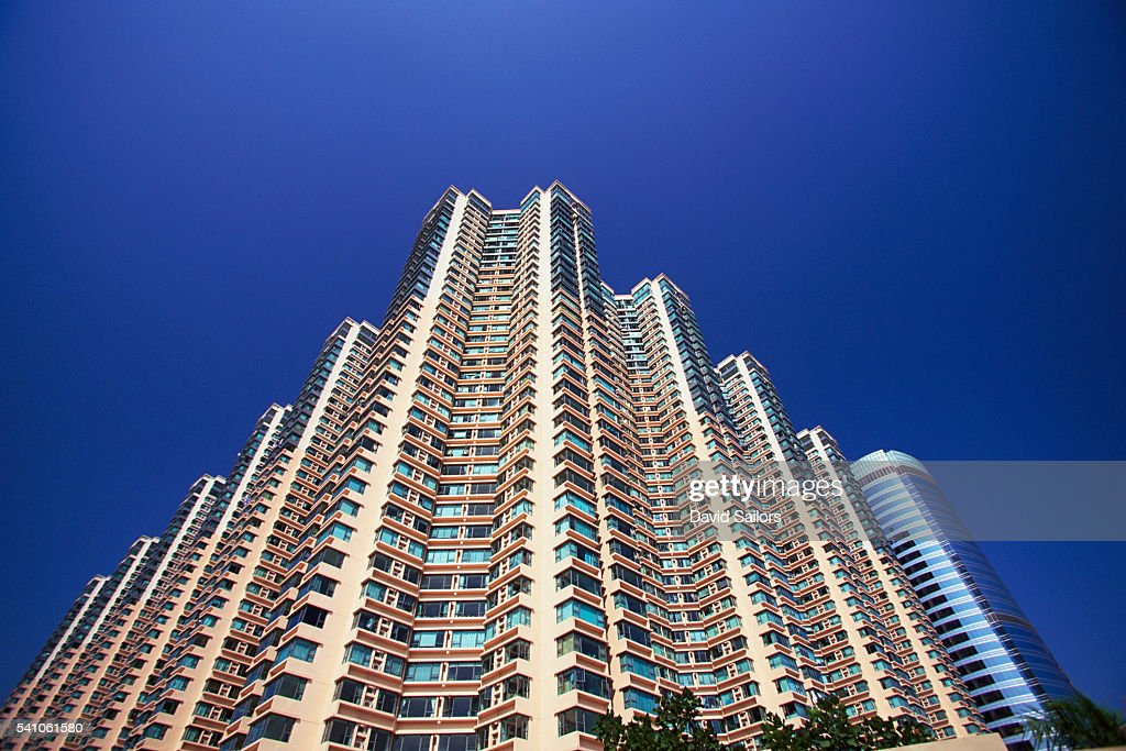 High Rise Apartment Buildings Stock Photo