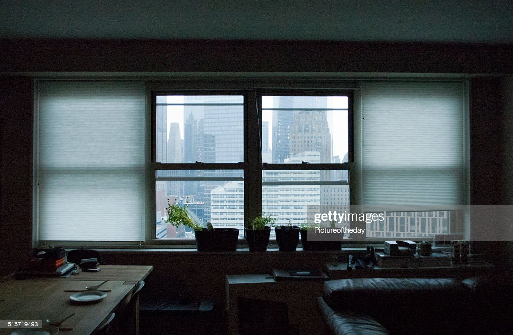 Highrise Apartment Window Looking Outside Stock Photo Getty Images