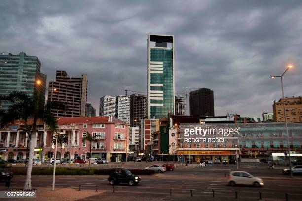 Highrise buildings are seen in the city of Luanda on November 13 the capital of Angola Many buildings in the city centre are unfinished as the city...