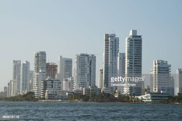 Highrise Buildings of Bocagrande area, Overview, Cartagena, Colombia