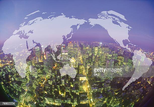 Usa map at night united states map at night maps show usa maps usa map at night atlas building nyc stock photos and pictures getty images gumiabroncs Gallery