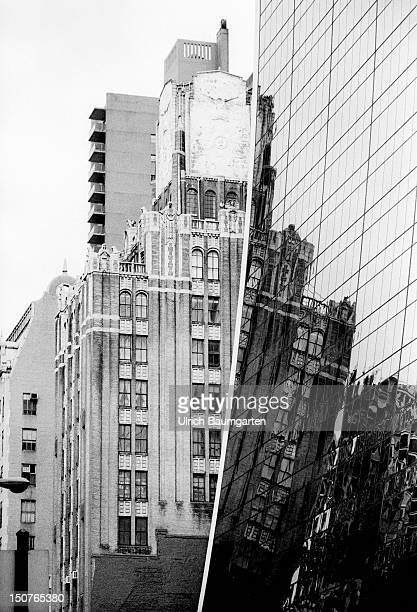 Highrise buildings with reflecting fronts in New York City