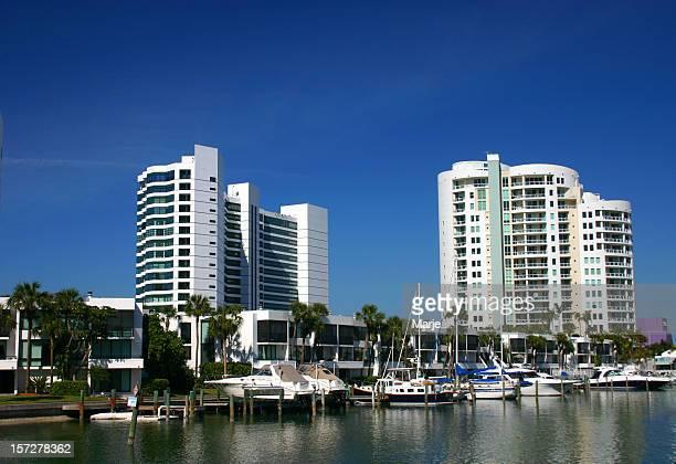 Highrise Condominiums and Marina
