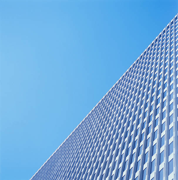 High-rise office building, low angle view