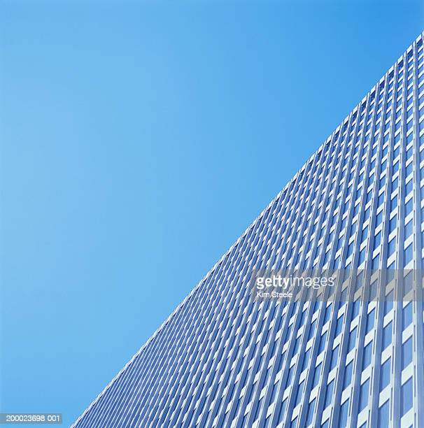 high-rise office building, low angle view - unusual angle stock pictures, royalty-free photos & images