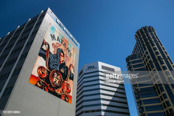 Highrise office buildings along Wilshire Blvd in Westwood Village are viewed on August 7 2018 in Los Angeles California Millions of tourists flock to...