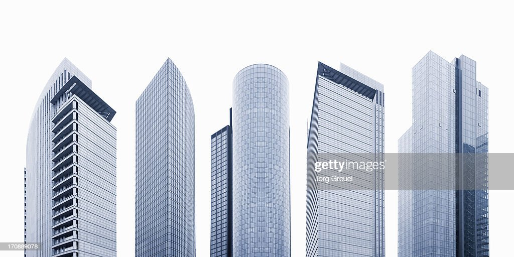 High-rise office buildings : Foto stock