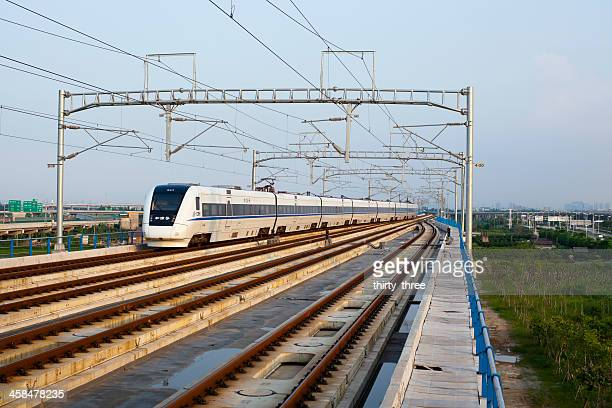 high-speed train - guangdong province stock photos and pictures