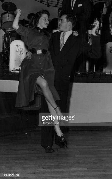 HighSteppersPhyllis Miller of 901 East tenth avenue and Carl Pearson of 3810 East Wesley avenue demonstrate the tango exhibition lift during a...