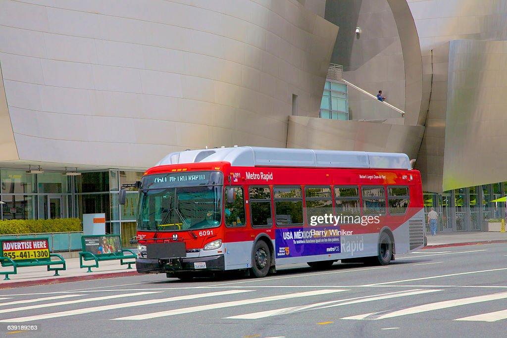 Hightech Bus On City Street Los Angeles Stock Photo - Getty