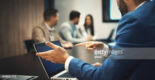 high-tech meeting. - obscured face stock pictures, royalty-free photos & images