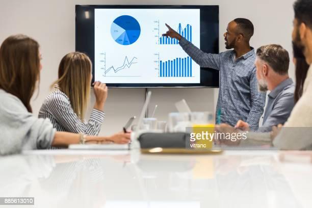 reunião de alta tecnologia. - analisando - fotografias e filmes do acervo