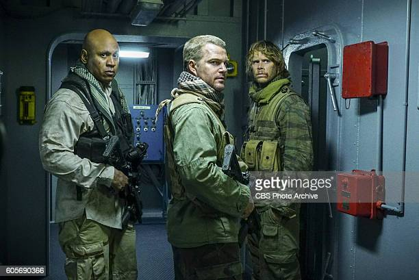 'HighValue Target' and 'Belly of the Beast' Pictured LL COOL J Chris O'Donnell and Eric Christian Olsen After NCIS fails to locate a mole in the...