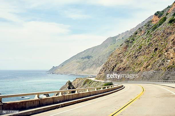 Highway 1 winding along coastline, Big Sur, California, USA