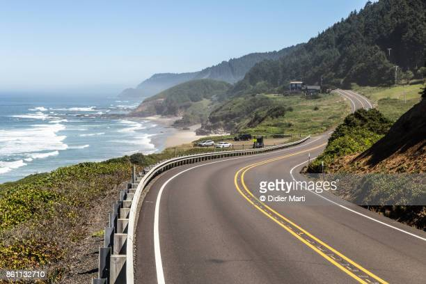 Highway 101 along the Pacific Northwest in Oregon, USA