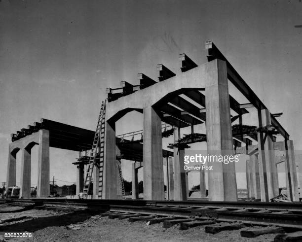 Highway 25 Highways Valley Highway 4p This mammoth bridge project located at W 36th Ave and Inca St was well on the way to completion in 1949...