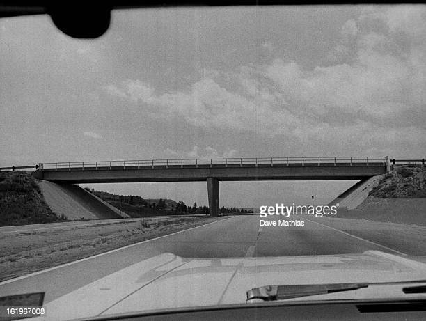 JUN 13 1967 JUN 28 1967 JUL 2 1967 Highway 25 ***** on Interstate 25 south of Denver have been built with 2 spans eliminating the pillars at the...
