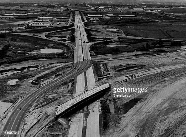 JUN 11 1967 JUN 21 1967 Highway 70 High Construction North looking west of Stapleton Go West young Man By Superhighway Modern highways to handle...