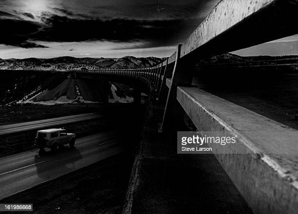 JAN 4 1968 JAN 7 1968 JAN 8 1969 JAN 9 1969 Highway 70 Interstate 70 Bridge Spans US Highway 6 West of Denver It brought its share of noise and dirt...