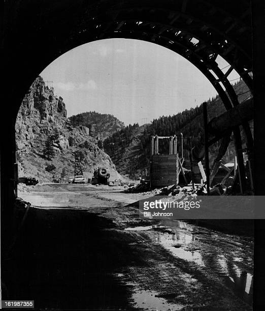 OCT 10 1960 OCT 16 1960 Highway 70 part of Interstate Highway 70 Pools of water lie in the roadbed that will be paved with asphalt when weather warms...