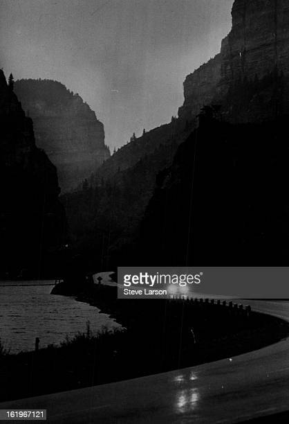 SEP 11 1969 OCT 2 1969 Highway 70 Sudden rains usually brief are common in Glenwoodd Canyon where proposed Interstate 70 would be built Officials...