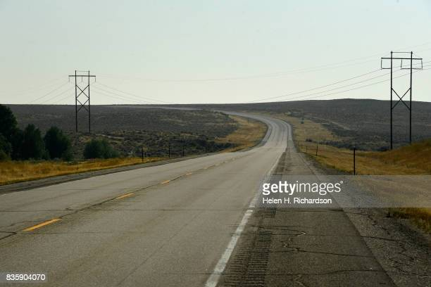 Highway 789 heading from Lander to Riverton was empty at times making travel through remote parts of Wyoming easier to view the Great American...