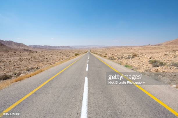 highway 90, negev, israel.jpg - historical palestine stock pictures, royalty-free photos & images