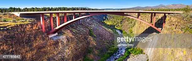 Highway 97 Bridge Overpass at Crooked River, Bend, Oregon Panorama