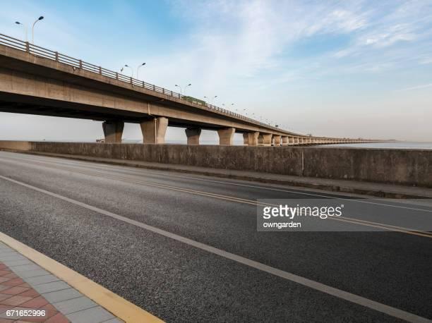 Highway across donghai bridge of shanghai,china