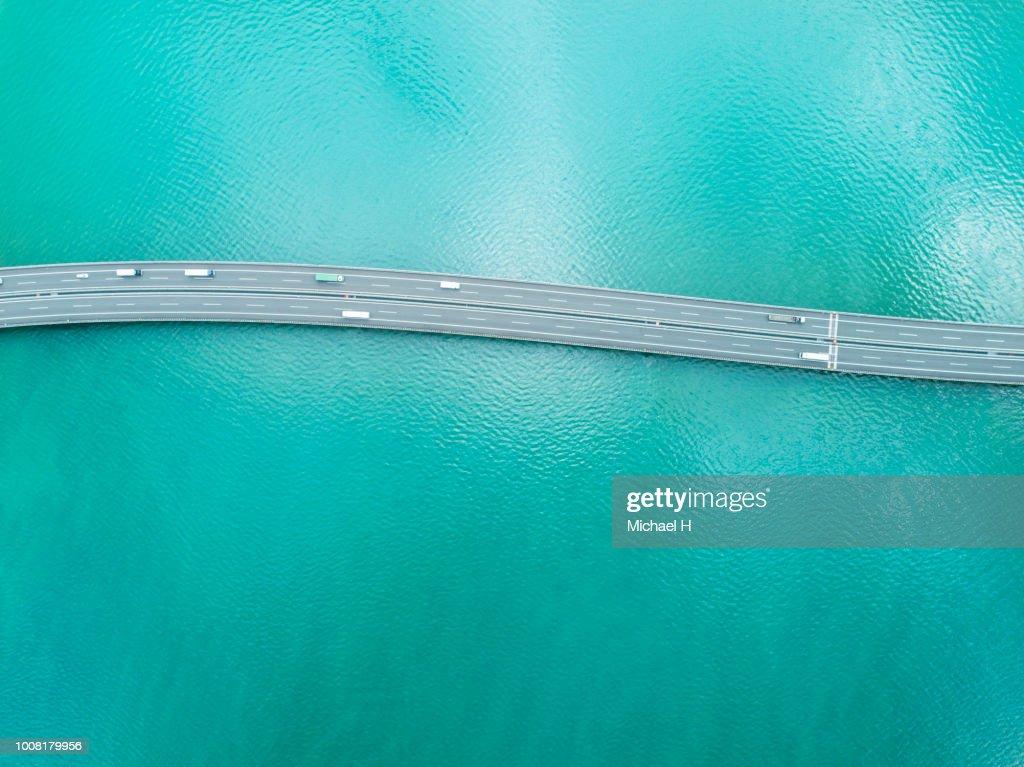 Highway across the ocean : Stock Photo
