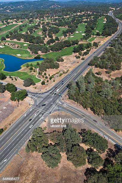 Highway and golf course
