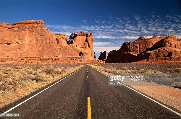 Highway and Red Mesas