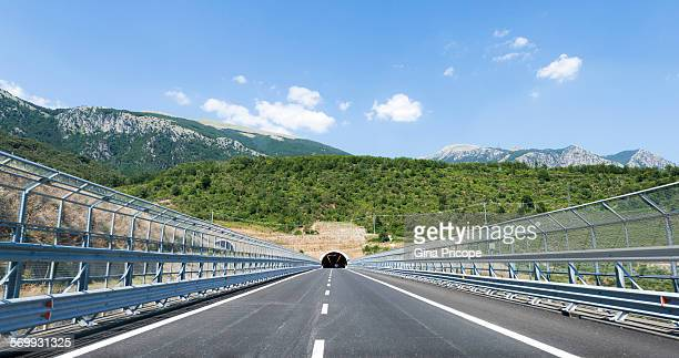 Highway and tunnnel in Calabria Italy