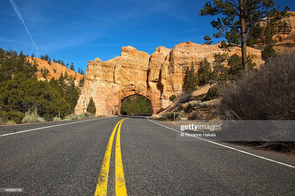 Highway arch, Red Canyon, Utah : Stock Photo