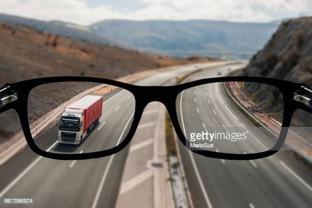 Highway as seen from glasses