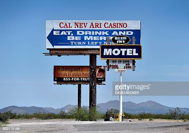 A highway billboard directs motorists to the CalNevAri Casino in CalNevAri Nevada on May 15 Nancy Kidwell is a modernday pioneer of the American...