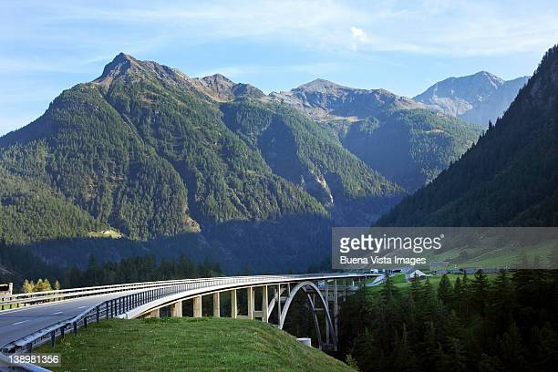 Highway bridge in the Alps