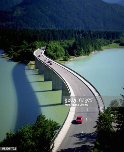 Highway Bridge over Sylvenstein Lake